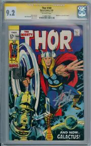 Thor #160 CGC 9.2 Signature Series Signed Stan Lee Galactus Jack Kirby Marvel comic book
